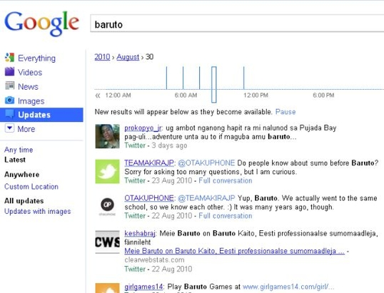 google realtime search