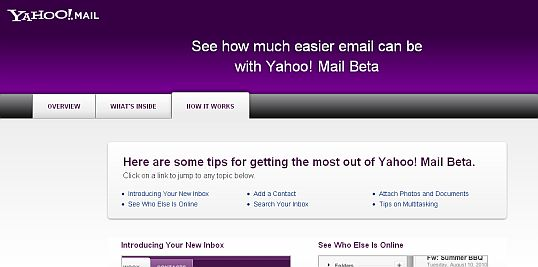 see how much easier email can be with yahoo mail beta