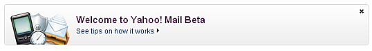 welcome to yahoo mail beta